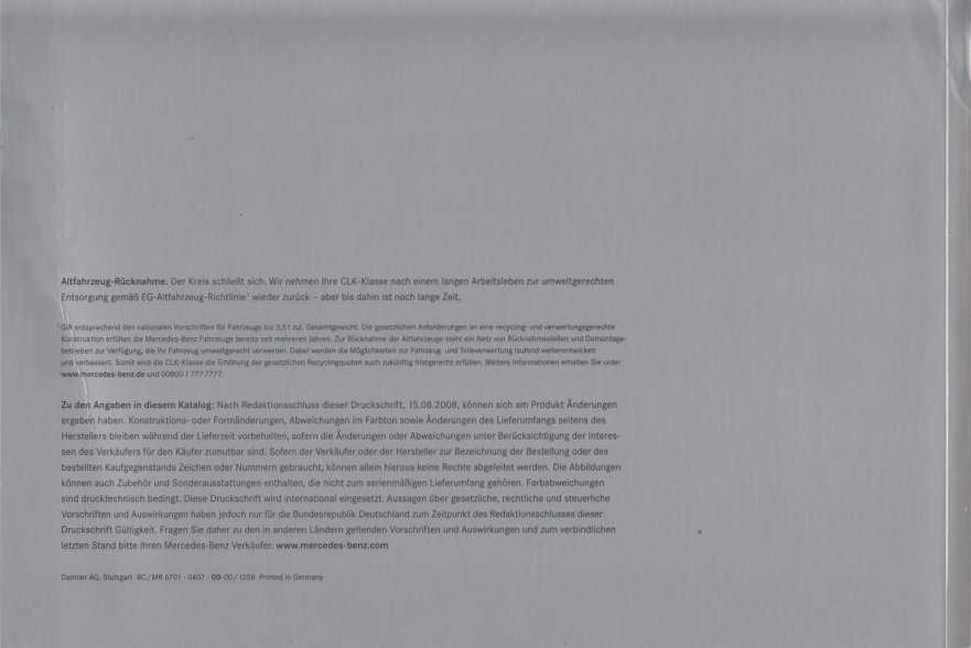 (A209): Catálogo 2008 - alemão 031