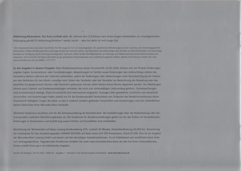 (A/C209): Catálogo 2008 - Grand Edition - alemão 009