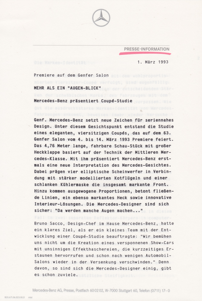 (C208): Brochura - estudos do conceito 1993 - alemão 002