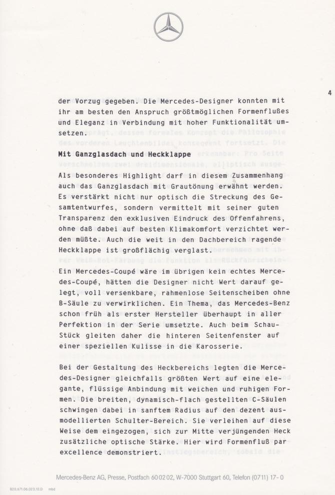 (C208): Brochura - estudos do conceito 1993 - alemão 005