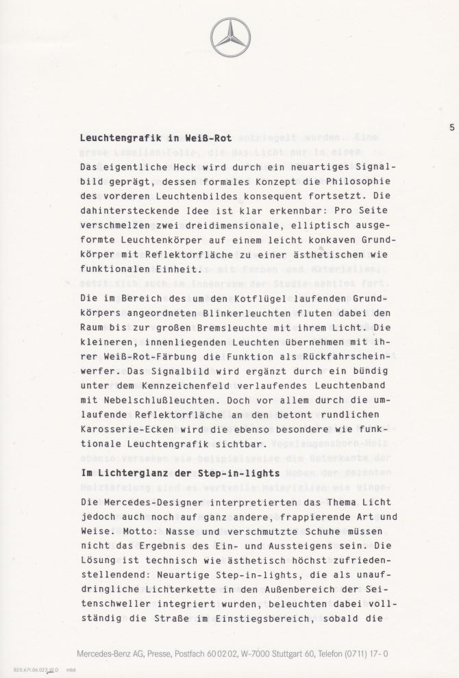(C208): Brochura - estudos do conceito 1993 - alemão 006
