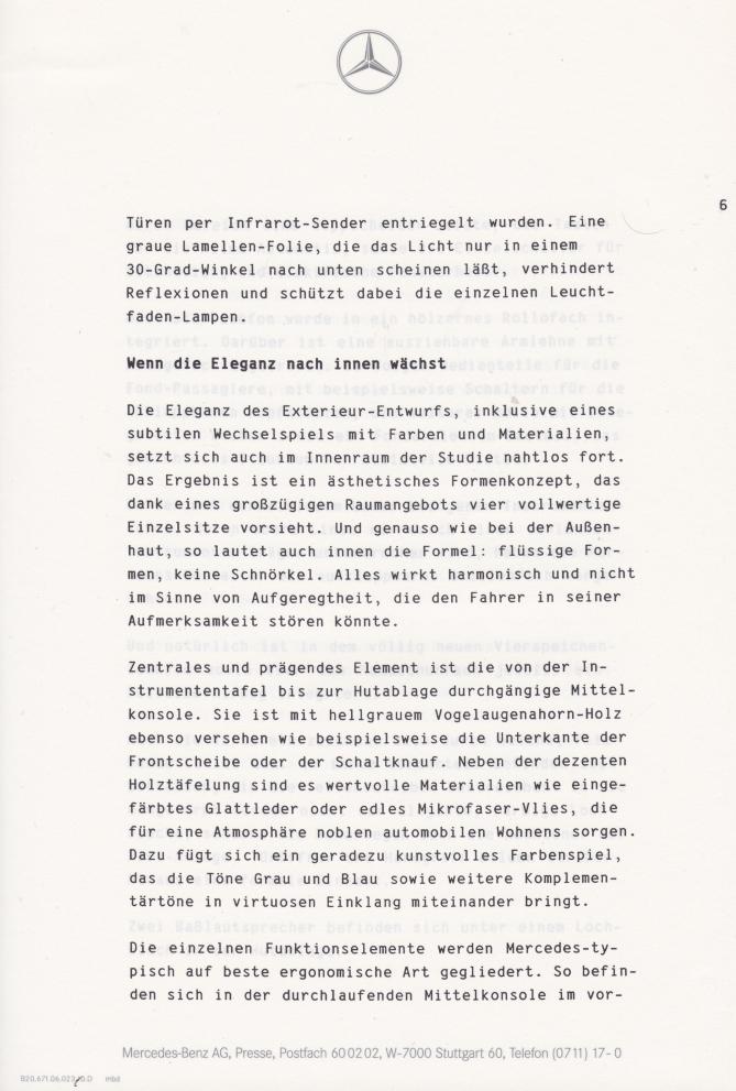 (C208): Brochura - estudos do conceito 1993 - alemão 007