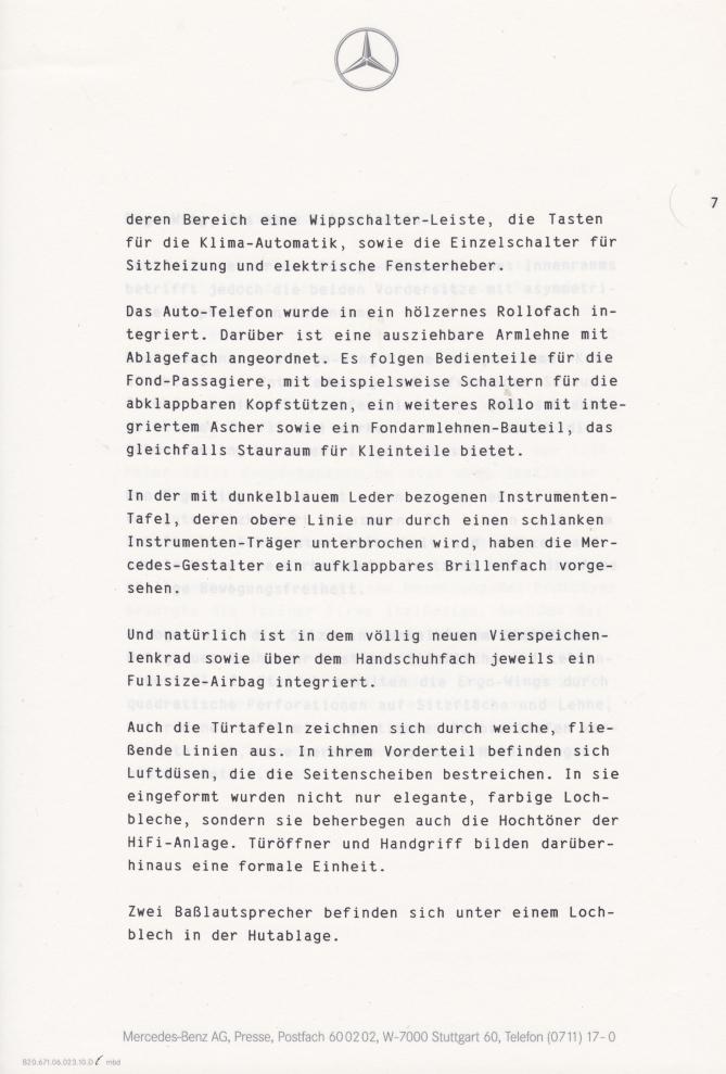 (C208): Brochura - estudos do conceito 1993 - alemão 008