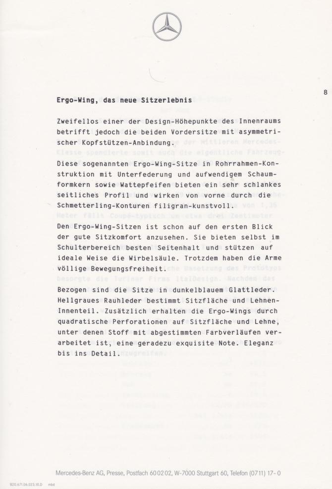 (C208): Brochura - estudos do conceito 1993 - alemão 009