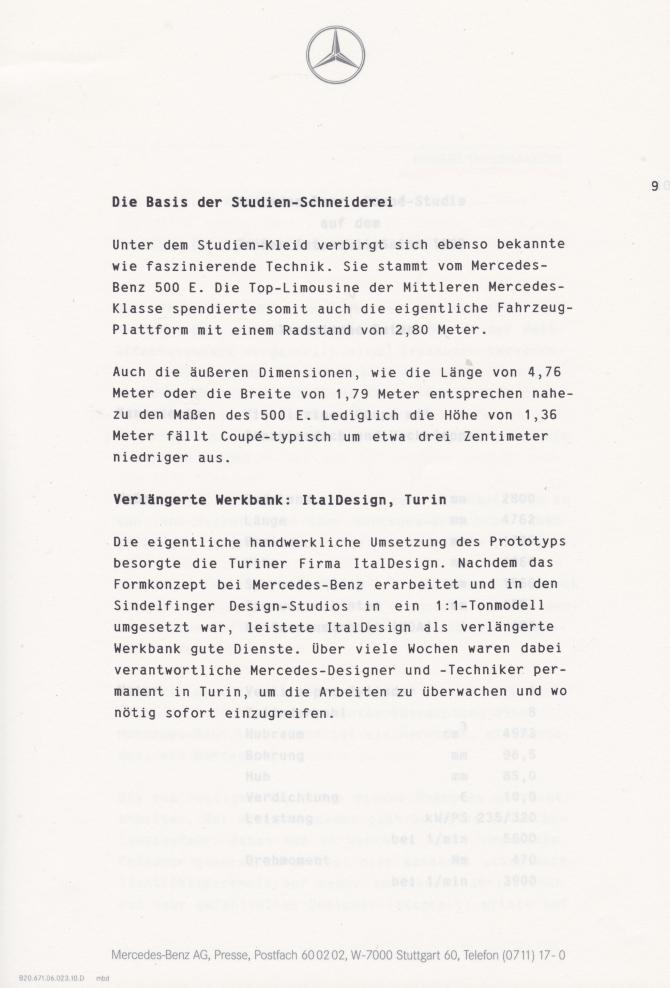 (C208): Brochura - estudos do conceito 1993 - alemão 010