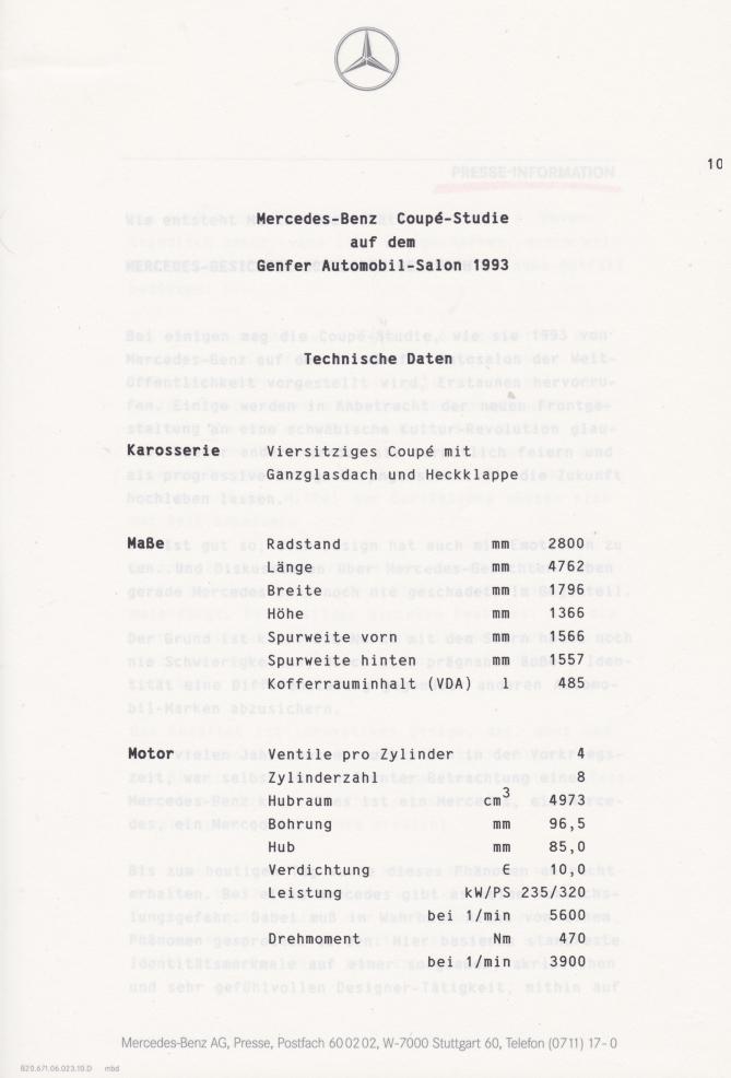 (C208): Brochura - estudos do conceito 1993 - alemão 011