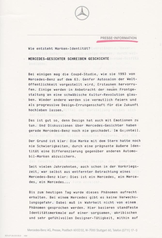 (C208): Brochura - estudos do conceito 1993 - alemão 012
