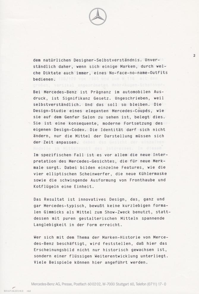 (C208): Brochura - estudos do conceito 1993 - alemão 013