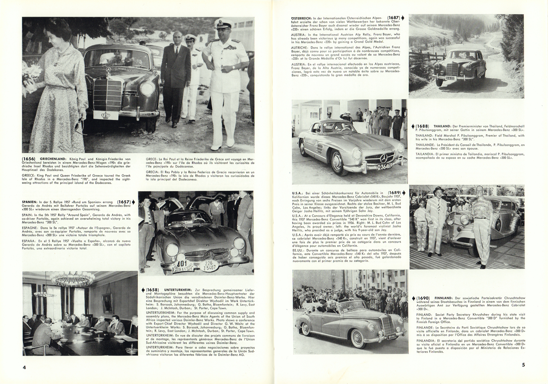 (REVISTA): Periódico In aller welt n.º 12 - Mercedes-Benz no mundo - 1957 - multilingue 003