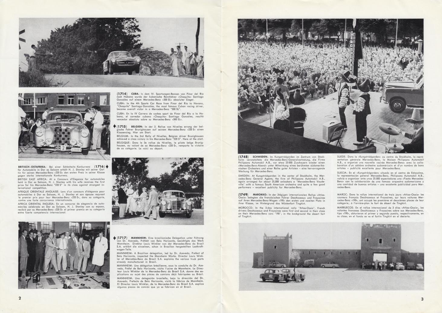 (REVISTA): Periódico In aller welt n.º 13 - Mercedes-Benz no mundo - 1957 - multilingue 002