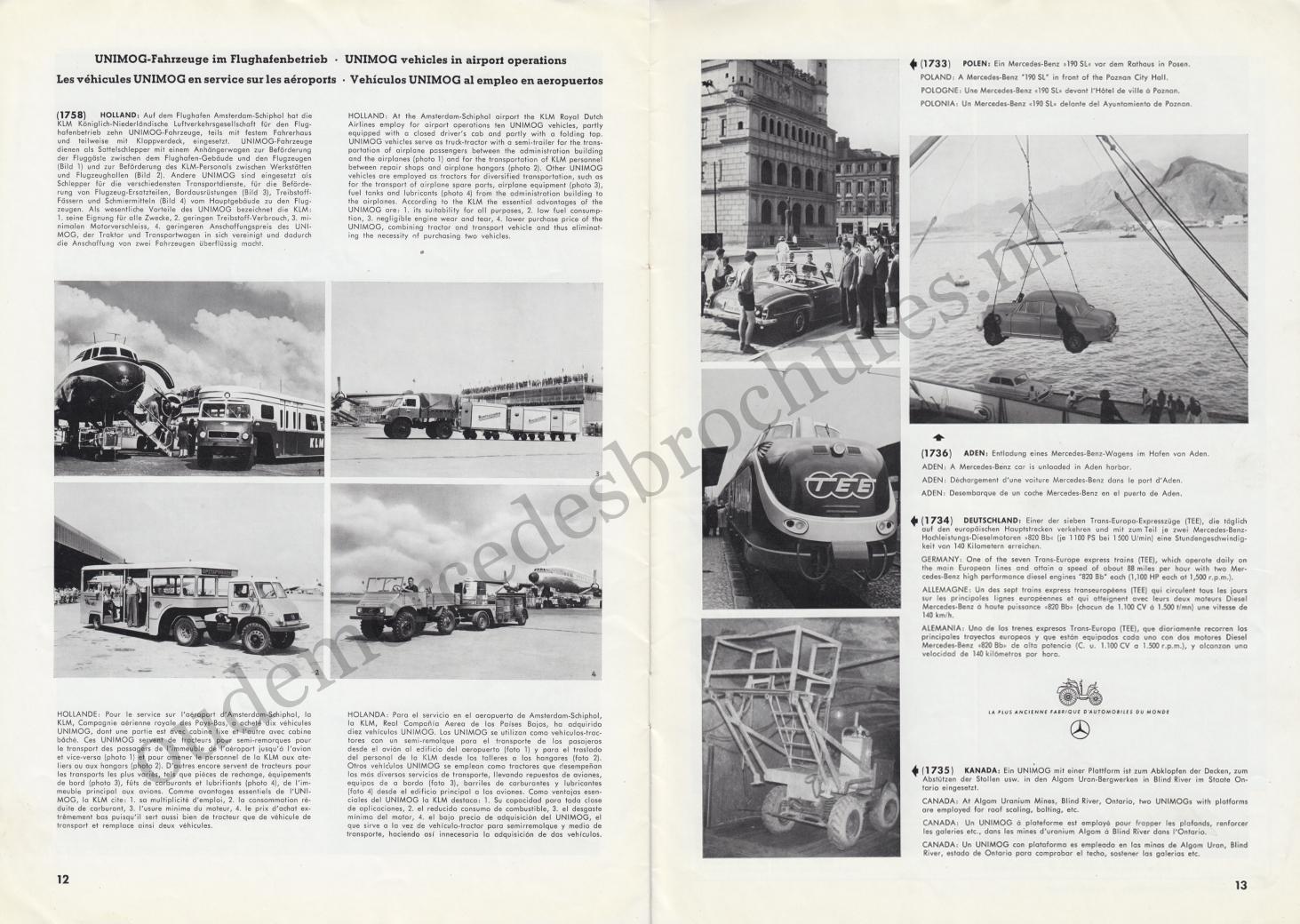 (REVISTA): Periódico In aller welt n.º 13 - Mercedes-Benz no mundo - 1957 - multilingue 007
