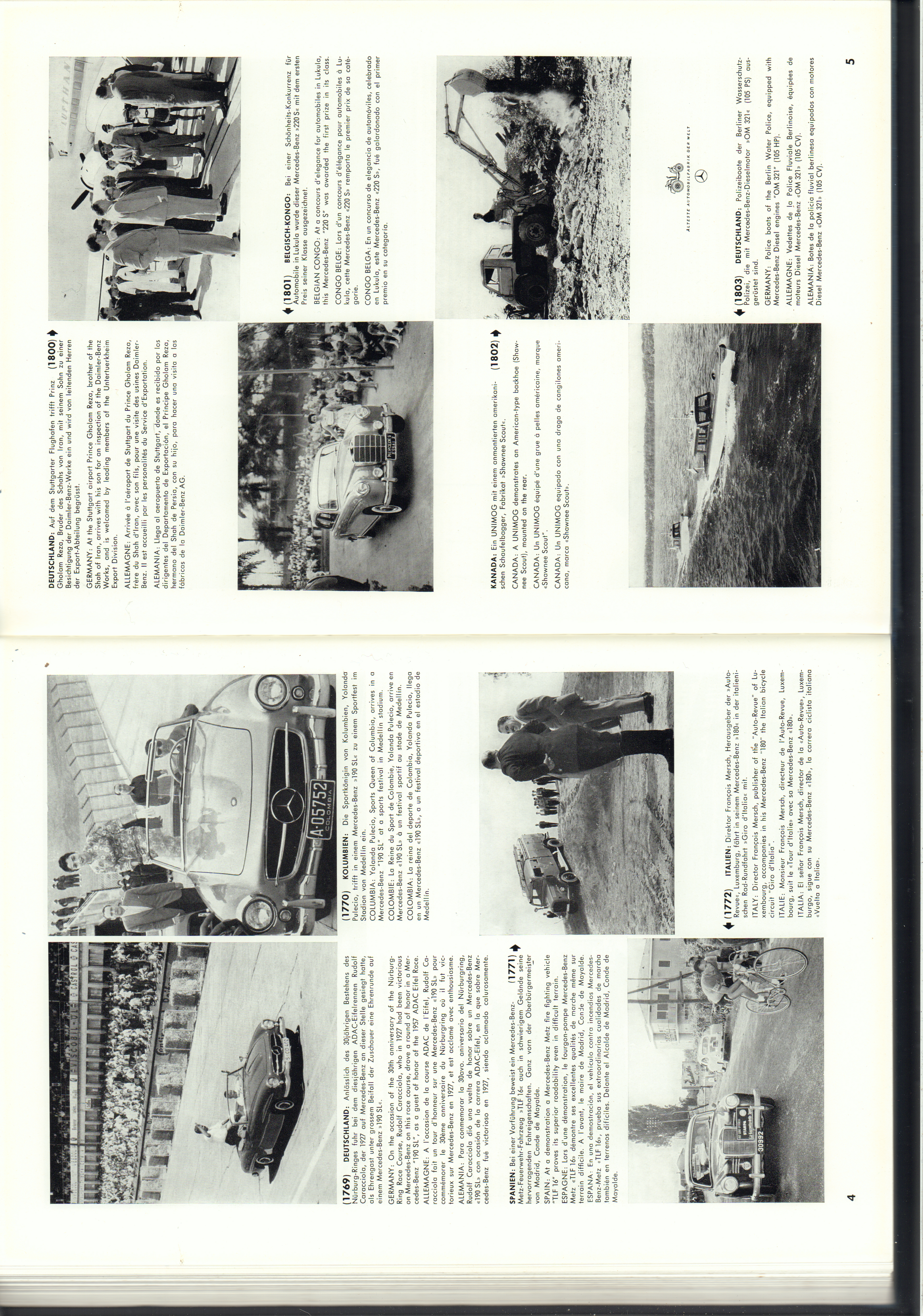 (REVISTA): Periódico In aller welt n.º 14 - Mercedes-Benz no mundo - 1957 - multilingue 003
