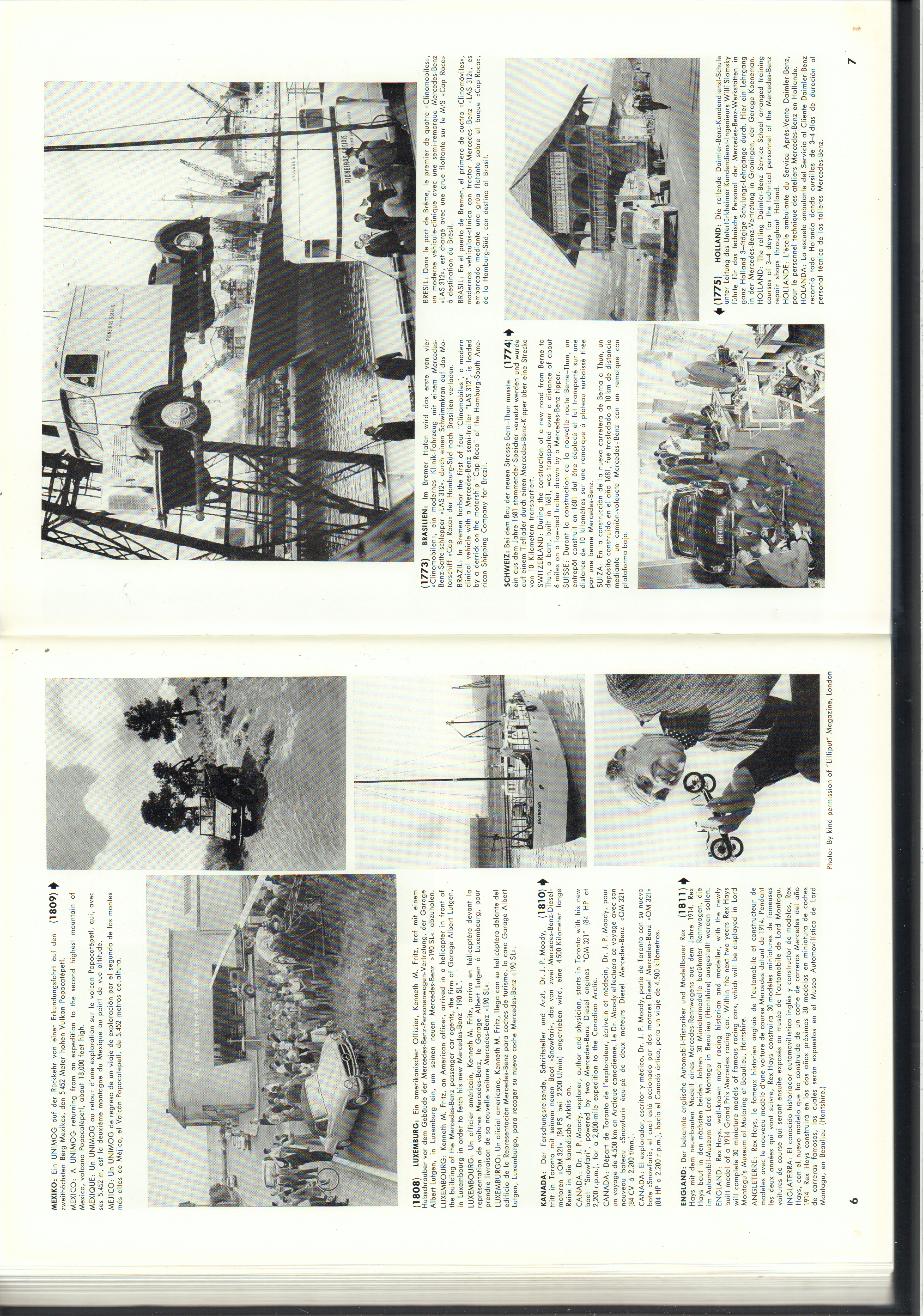 (REVISTA): Periódico In aller welt n.º 14 - Mercedes-Benz no mundo - 1957 - multilingue 004