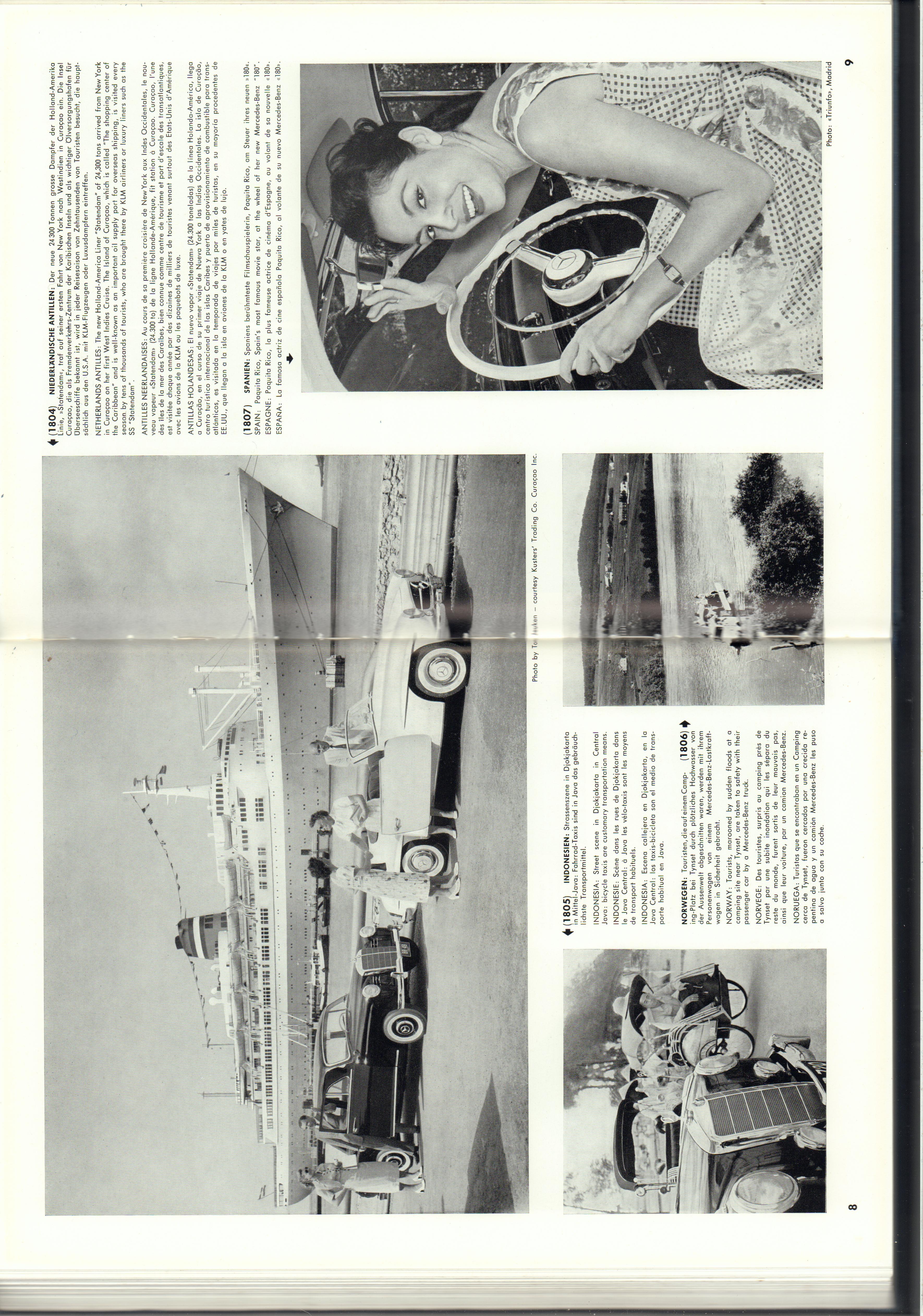 (REVISTA): Periódico In aller welt n.º 14 - Mercedes-Benz no mundo - 1957 - multilingue 005