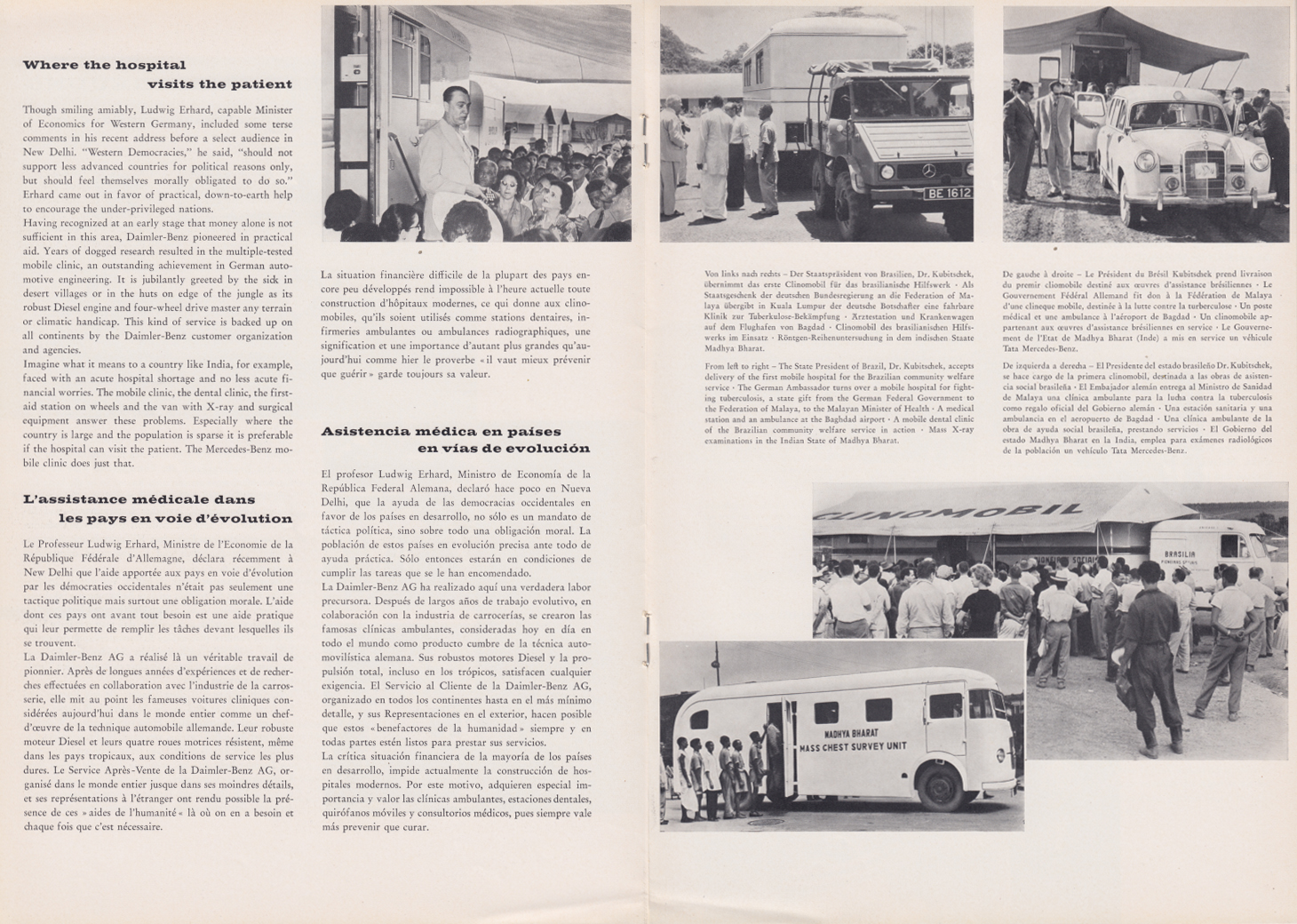 (REVISTA): Periódico In aller welt n.º 29 - Mercedes-Benz no mundo - 1959 - multilingue 007