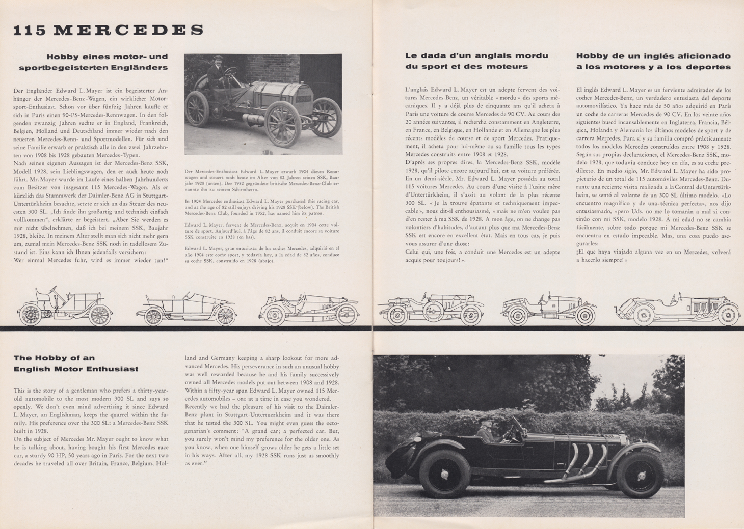 (REVISTA): Periódico In aller welt n.º 29 - Mercedes-Benz no mundo - 1959 - multilingue 010