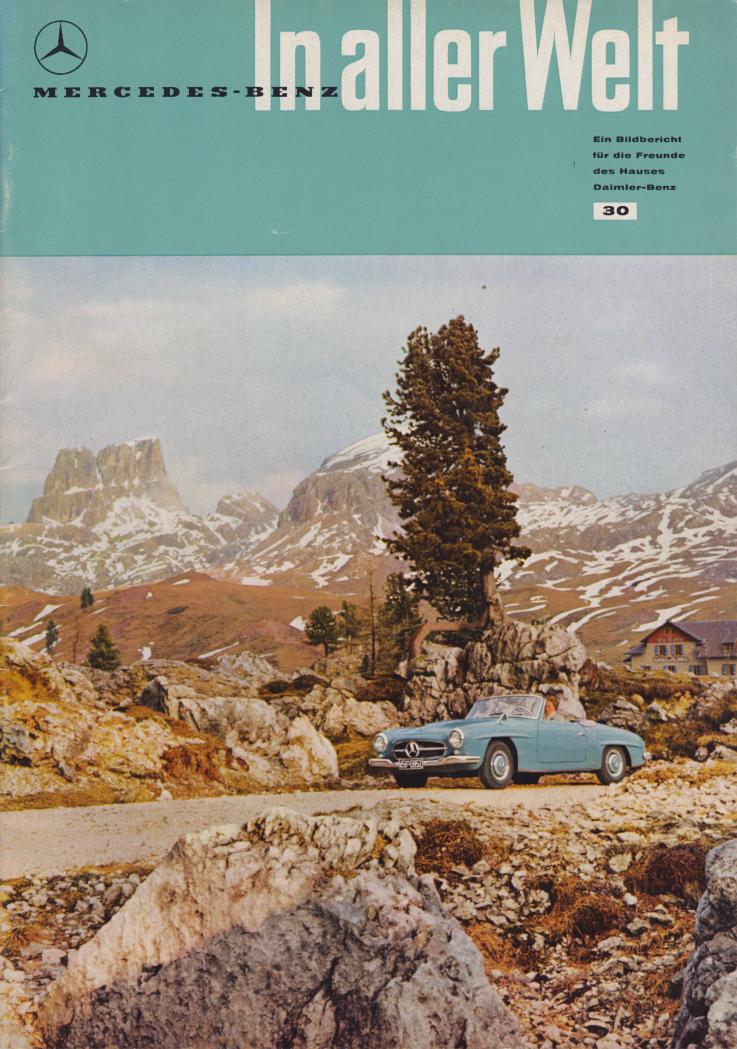 (REVISTA): Periódico In aller welt n.º 30 - Mercedes-Benz no mundo - 1959 - multilingue 001