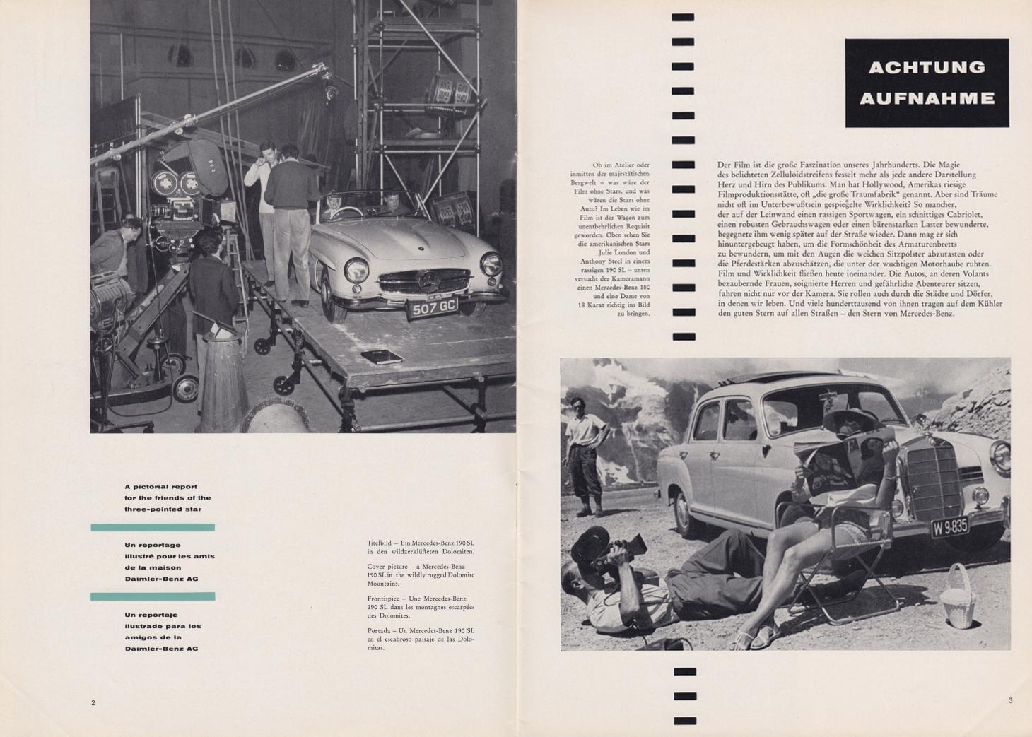 (REVISTA): Periódico In aller welt n.º 30 - Mercedes-Benz no mundo - 1959 - multilingue 002