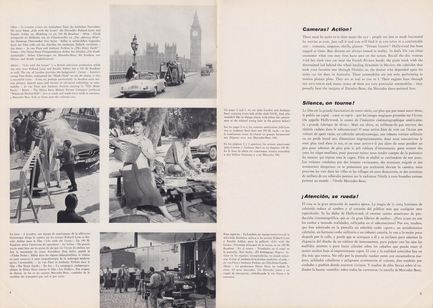 (REVISTA): Periódico In aller welt n.º 30 - Mercedes-Benz no mundo - 1959 - multilingue 003