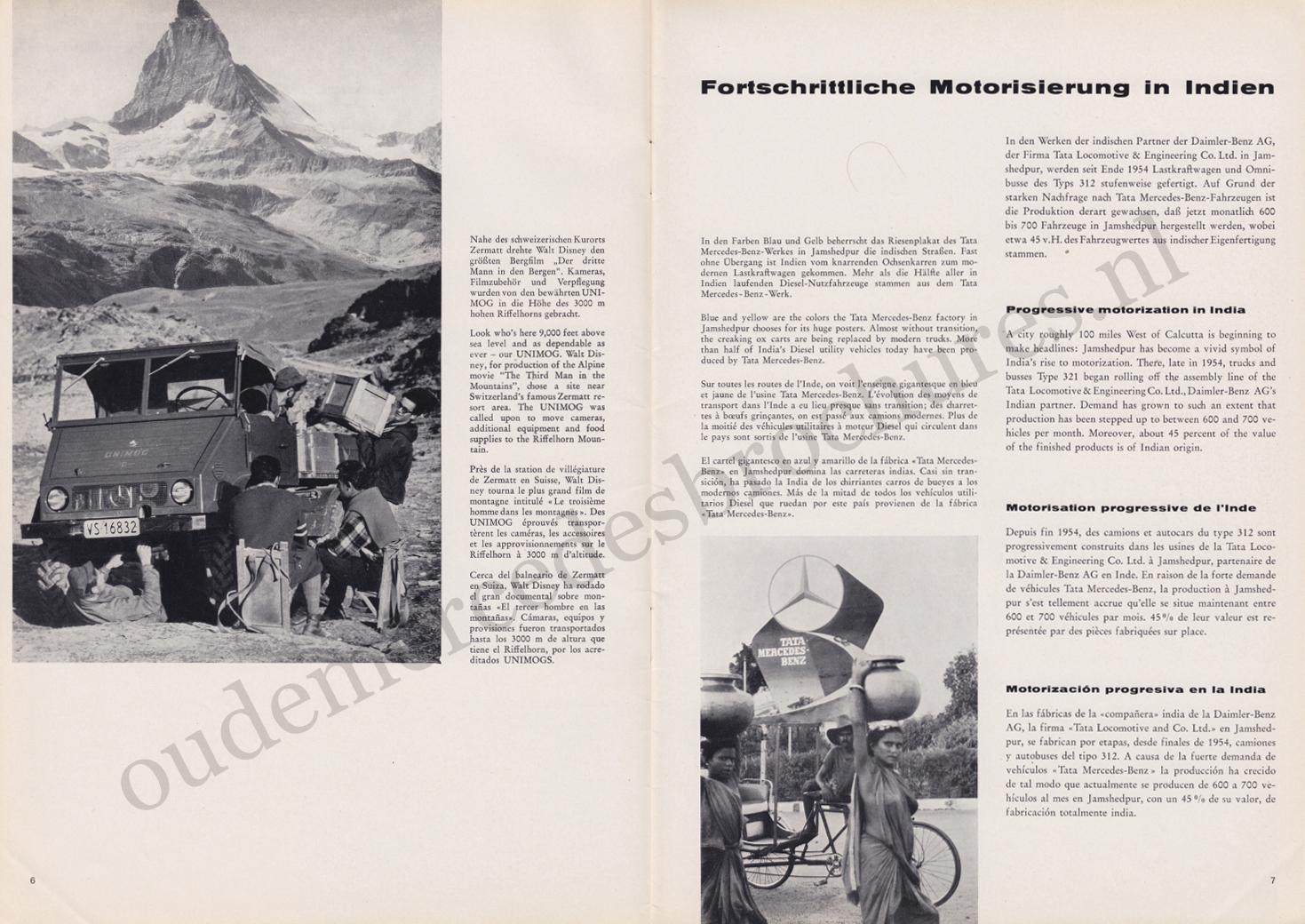 (REVISTA): Periódico In aller welt n.º 30 - Mercedes-Benz no mundo - 1959 - multilingue 004