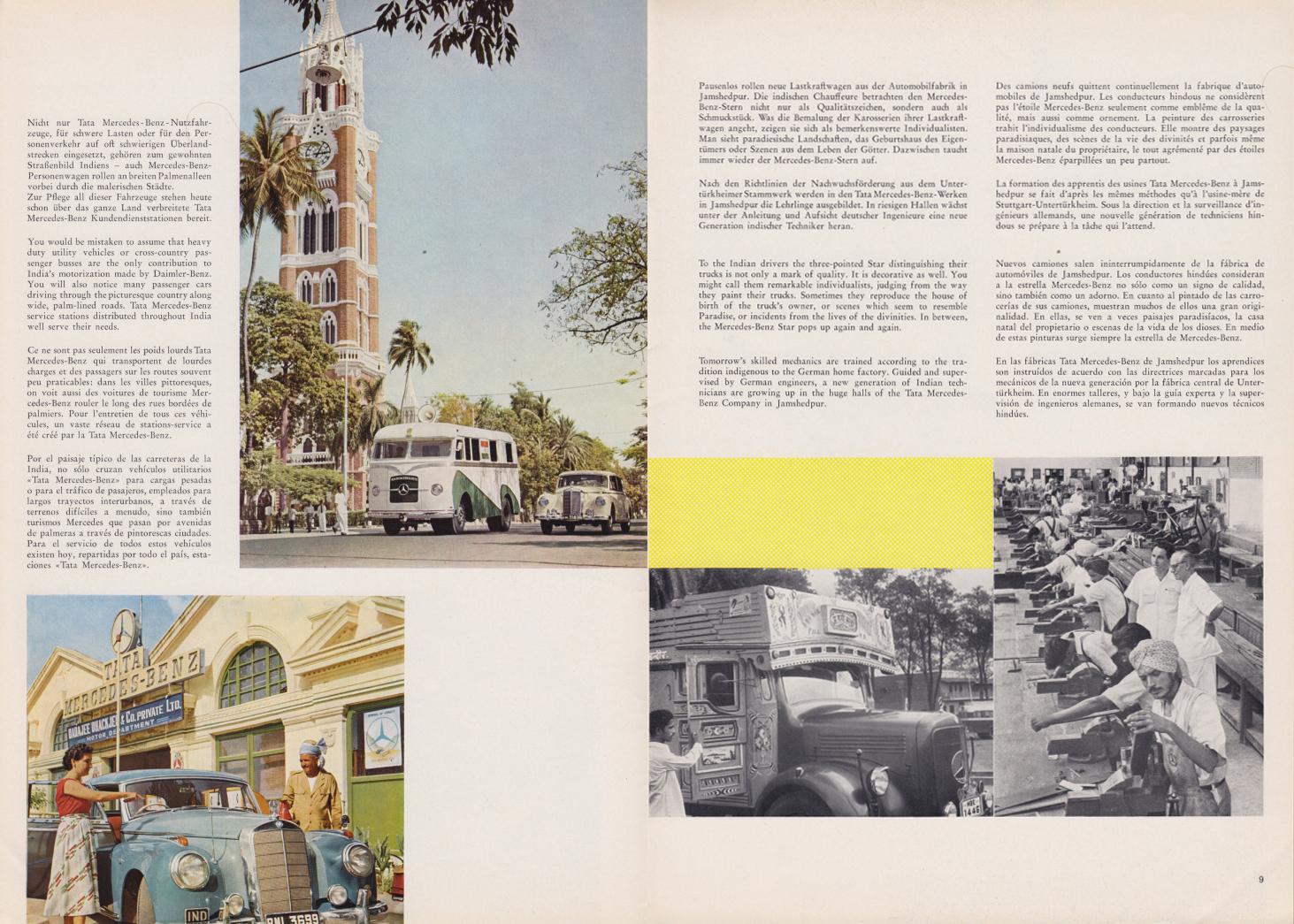 (REVISTA): Periódico In aller welt n.º 30 - Mercedes-Benz no mundo - 1959 - multilingue 005