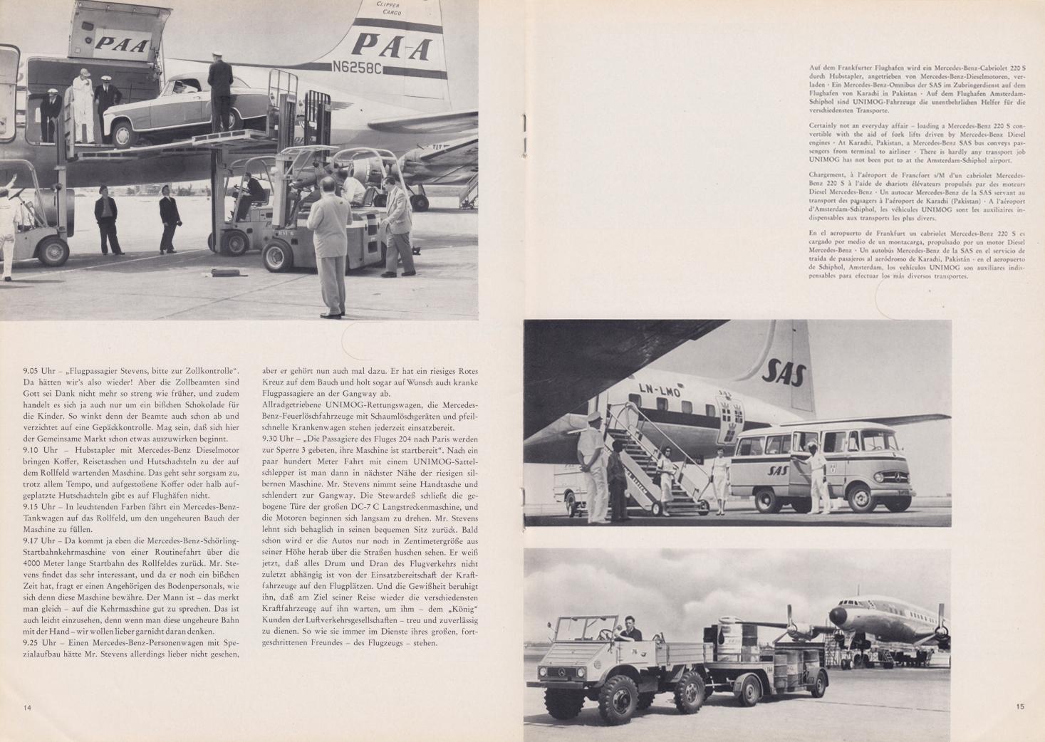 (REVISTA): Periódico In aller welt n.º 30 - Mercedes-Benz no mundo - 1959 - multilingue 008
