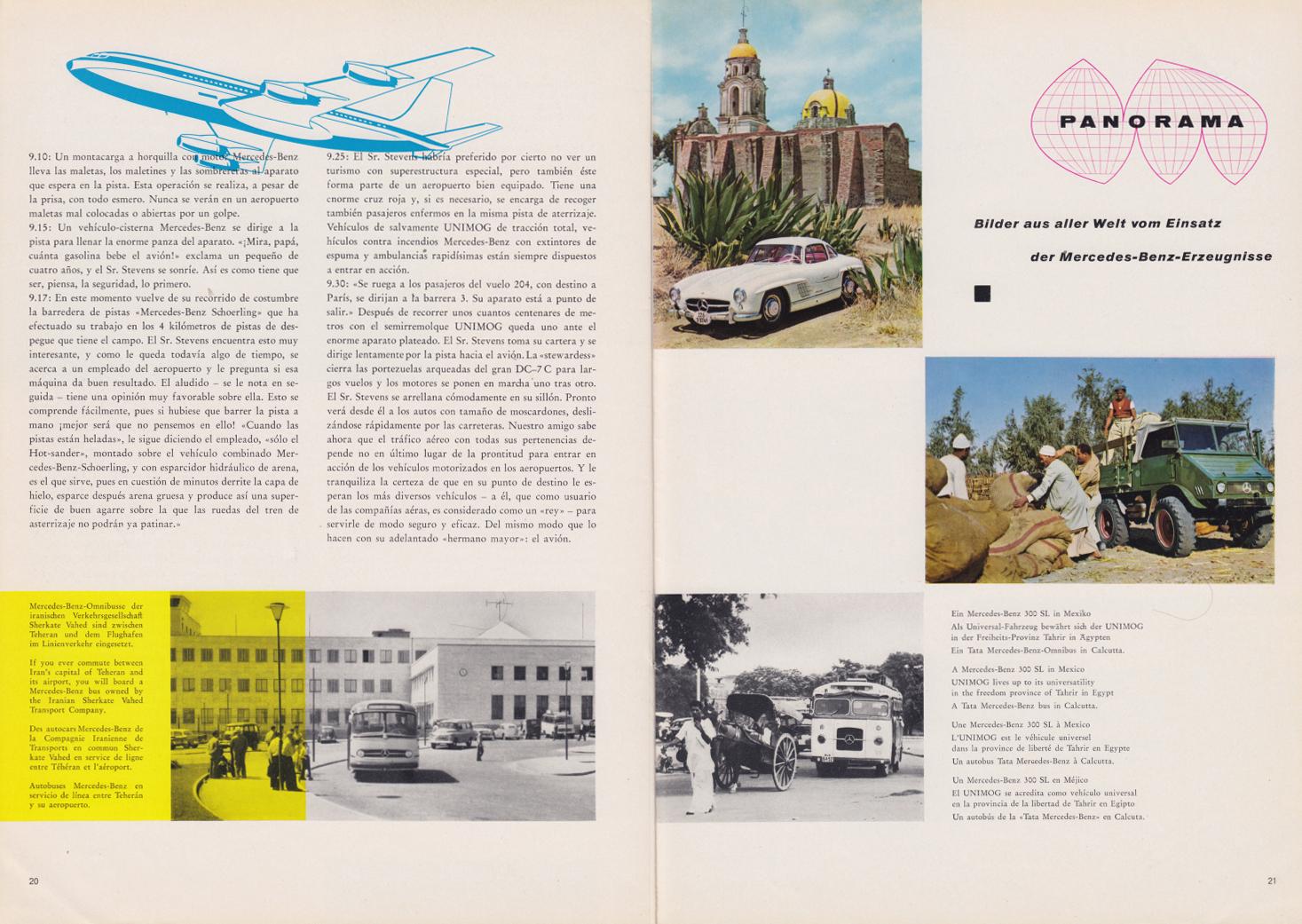 (REVISTA): Periódico In aller welt n.º 30 - Mercedes-Benz no mundo - 1959 - multilingue 011