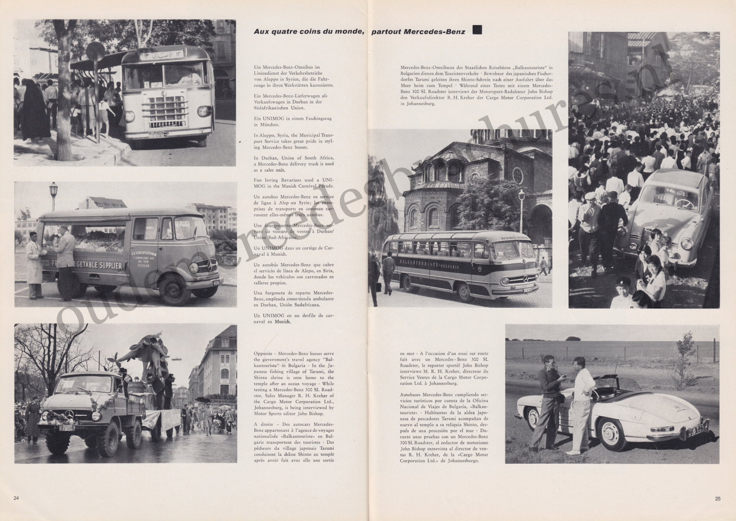 (REVISTA): Periódico In aller welt n.º 30 - Mercedes-Benz no mundo - 1959 - multilingue 013