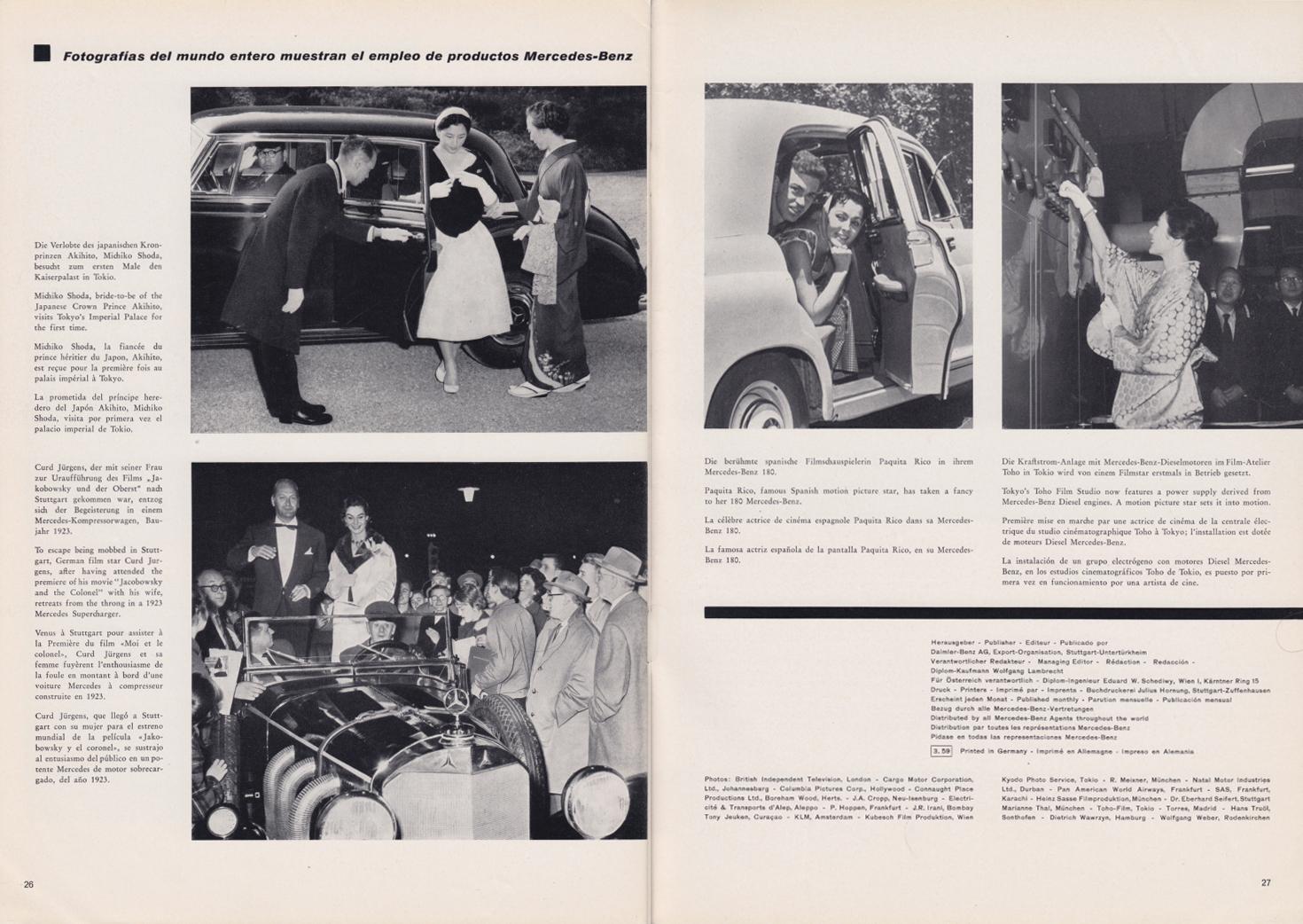 (REVISTA): Periódico In aller welt n.º 30 - Mercedes-Benz no mundo - 1959 - multilingue 014