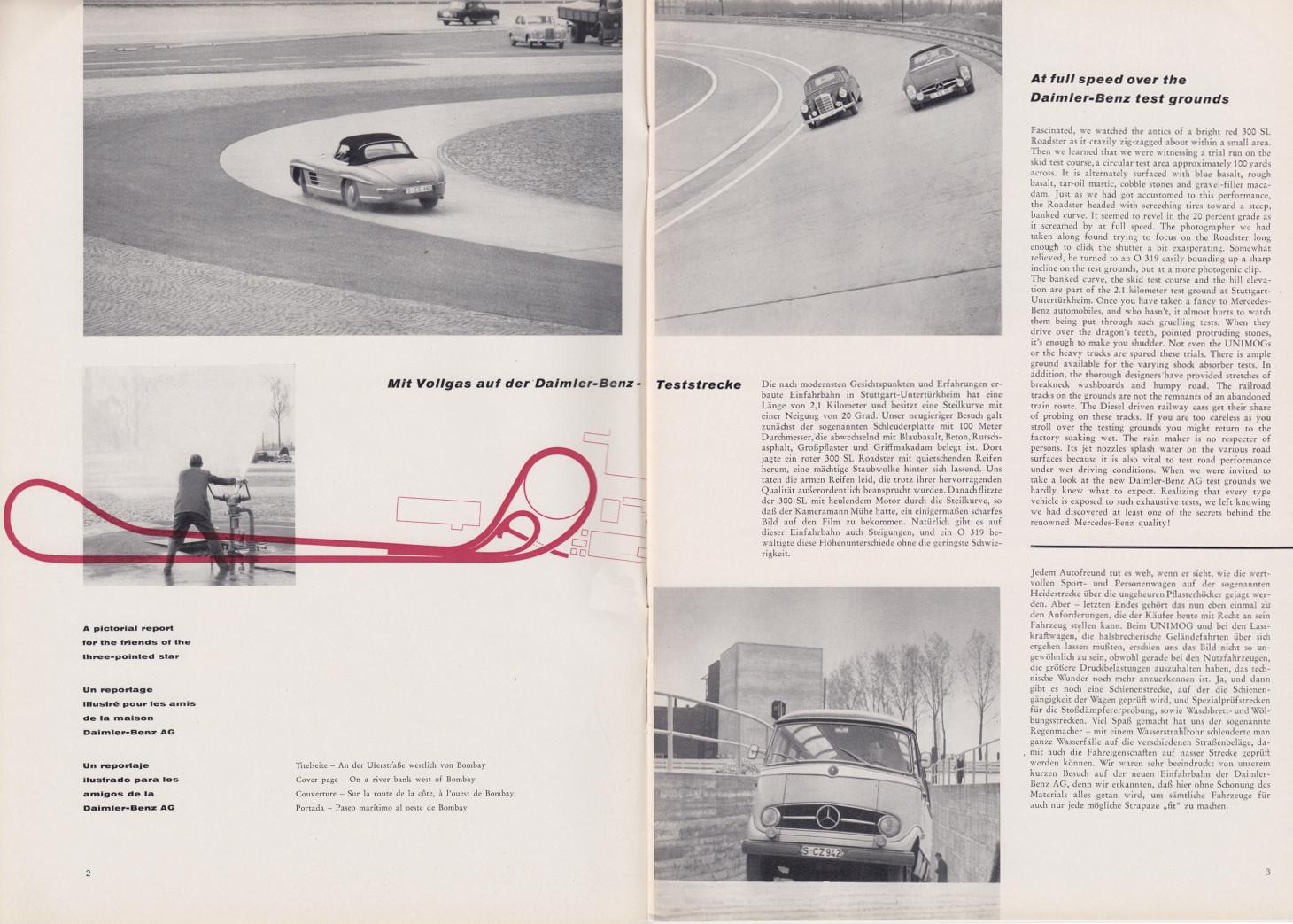 (REVISTA): Periódico In aller welt n.º 31 - Mercedes-Benz no mundo - 1959 - multilingue 002