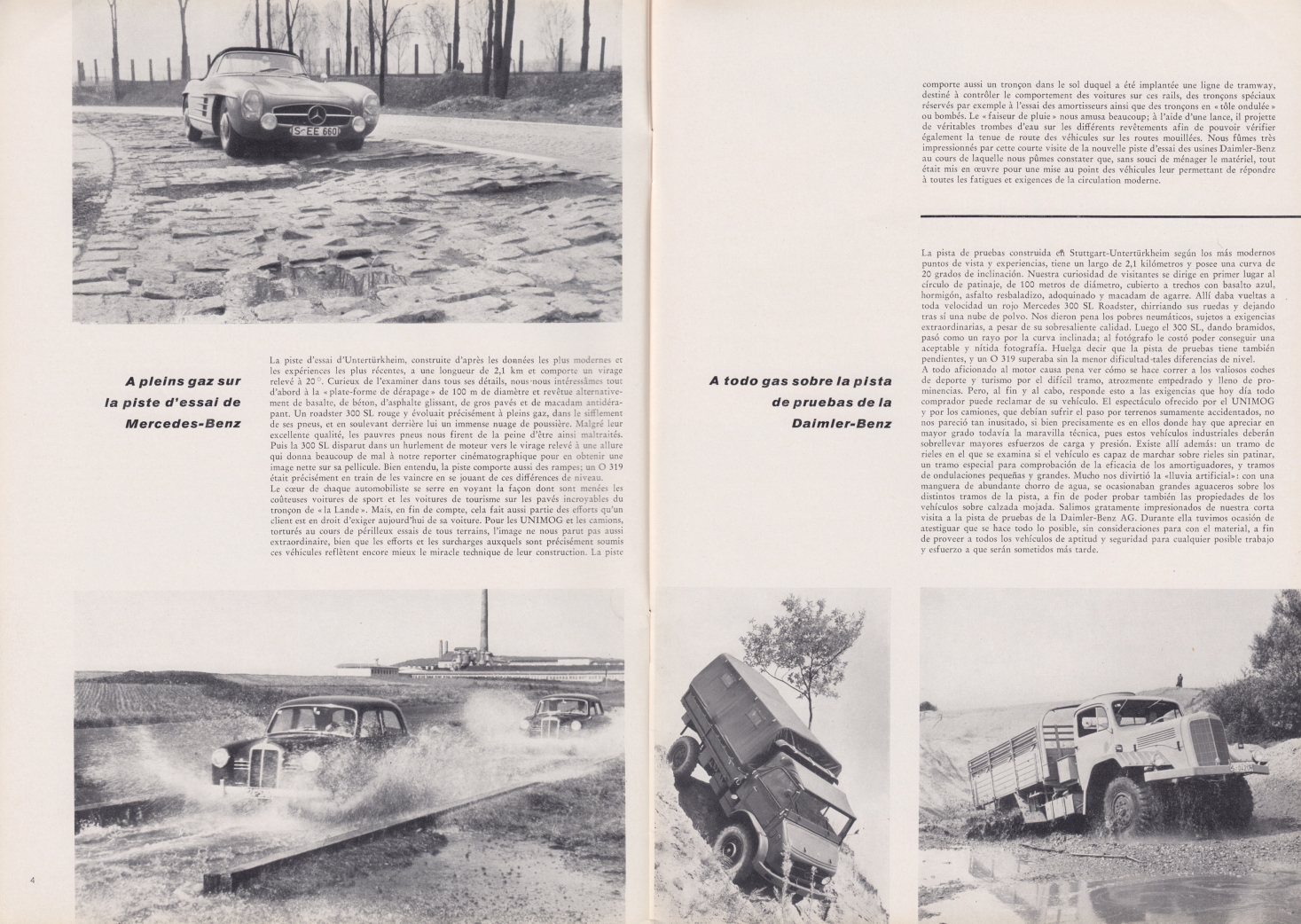 (REVISTA): Periódico In aller welt n.º 31 - Mercedes-Benz no mundo - 1959 - multilingue 003