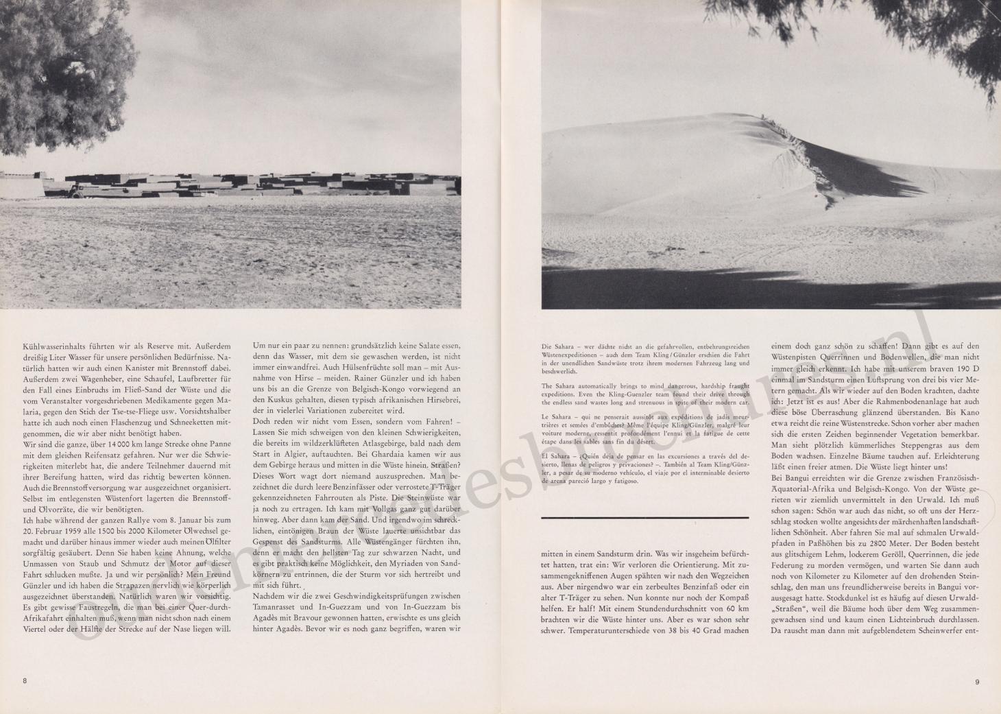 (REVISTA): Periódico In aller welt n.º 31 - Mercedes-Benz no mundo - 1959 - multilingue 005