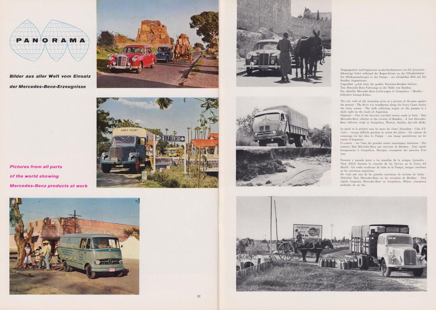 (REVISTA): Periódico In aller welt n.º 31 - Mercedes-Benz no mundo - 1959 - multilingue 012