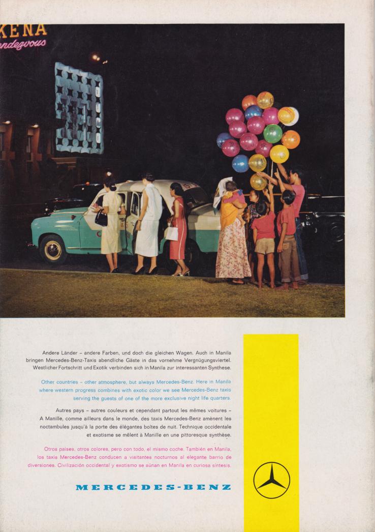 (REVISTA): Periódico In aller welt n.º 31 - Mercedes-Benz no mundo - 1959 - multilingue 015