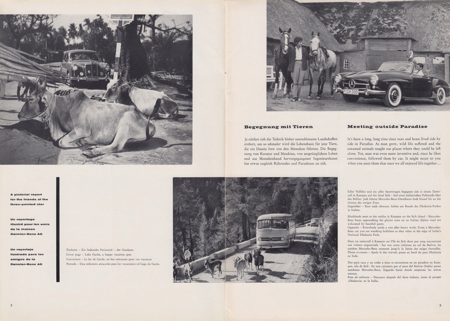 (REVISTA): Periódico In aller welt n.º 32 - Mercedes-Benz no mundo - 1959 - multilingue 002