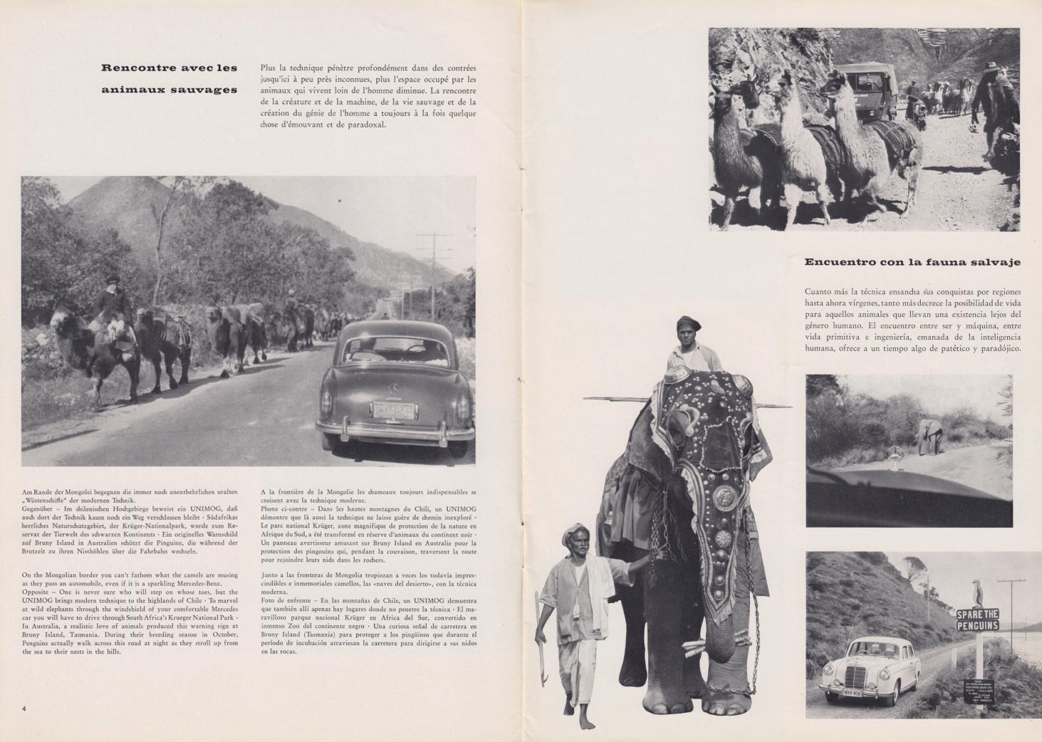 (REVISTA): Periódico In aller welt n.º 32 - Mercedes-Benz no mundo - 1959 - multilingue 003
