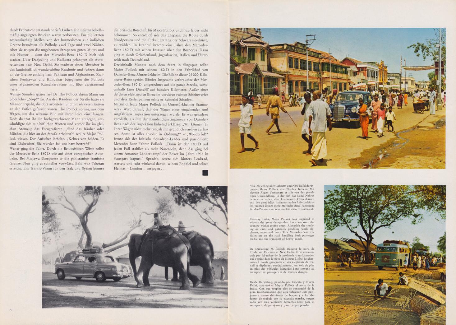 (REVISTA): Periódico In aller welt n.º 32 - Mercedes-Benz no mundo - 1959 - multilingue 005