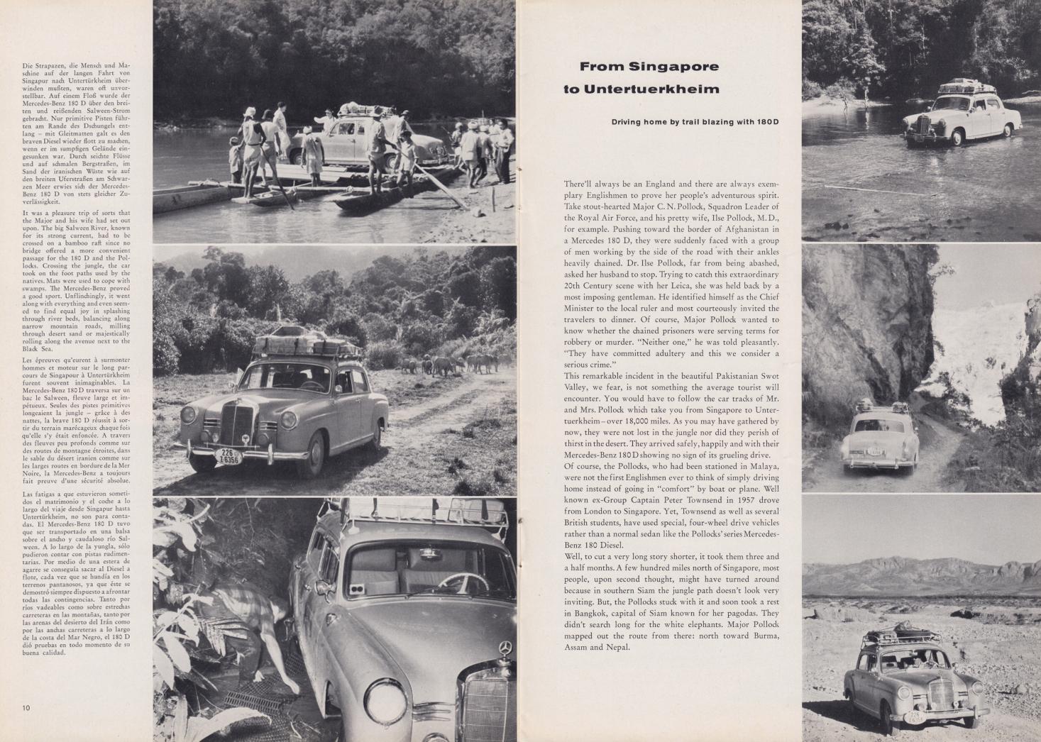 (REVISTA): Periódico In aller welt n.º 32 - Mercedes-Benz no mundo - 1959 - multilingue 006