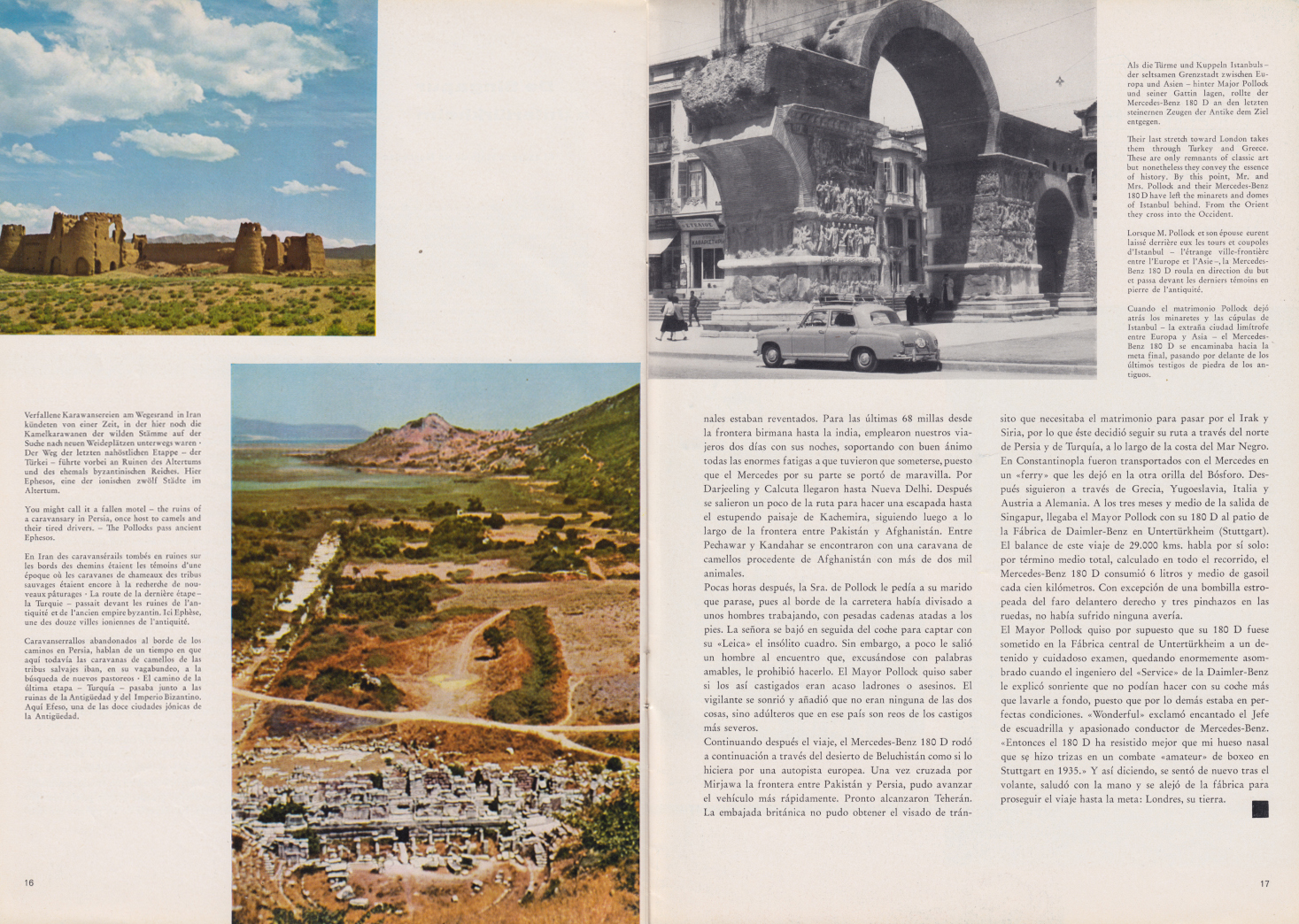 (REVISTA): Periódico In aller welt n.º 32 - Mercedes-Benz no mundo - 1959 - multilingue 009