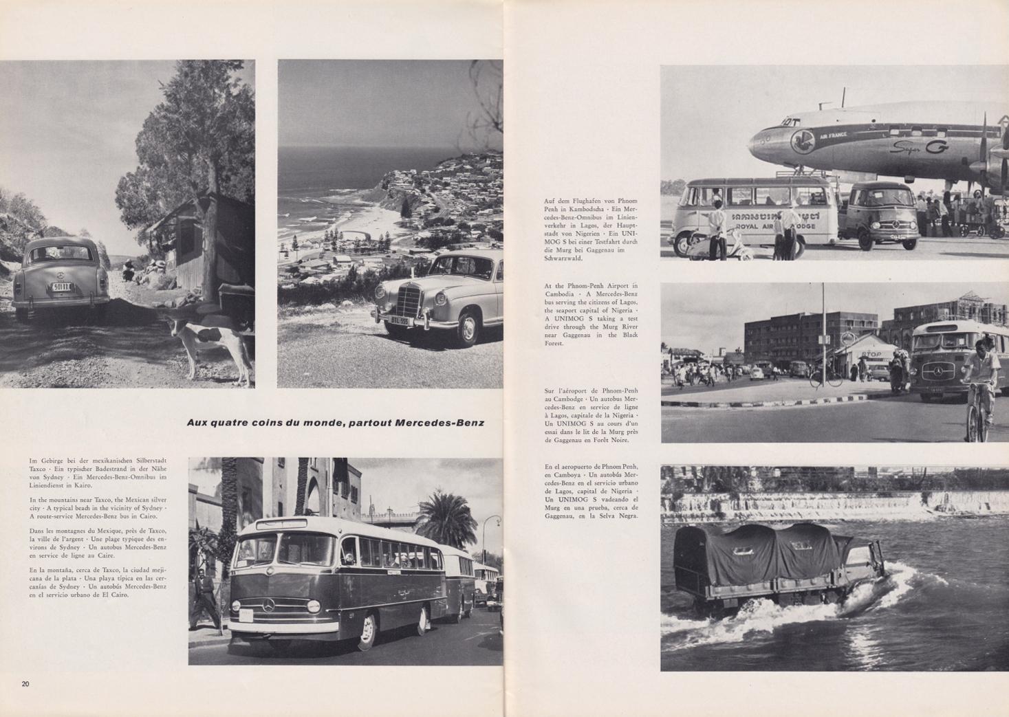 (REVISTA): Periódico In aller welt n.º 32 - Mercedes-Benz no mundo - 1959 - multilingue 011