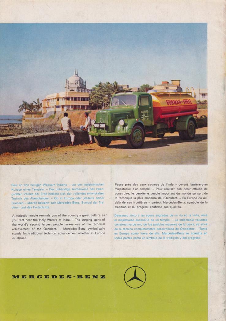(REVISTA): Periódico In aller welt n.º 32 - Mercedes-Benz no mundo - 1959 - multilingue 013