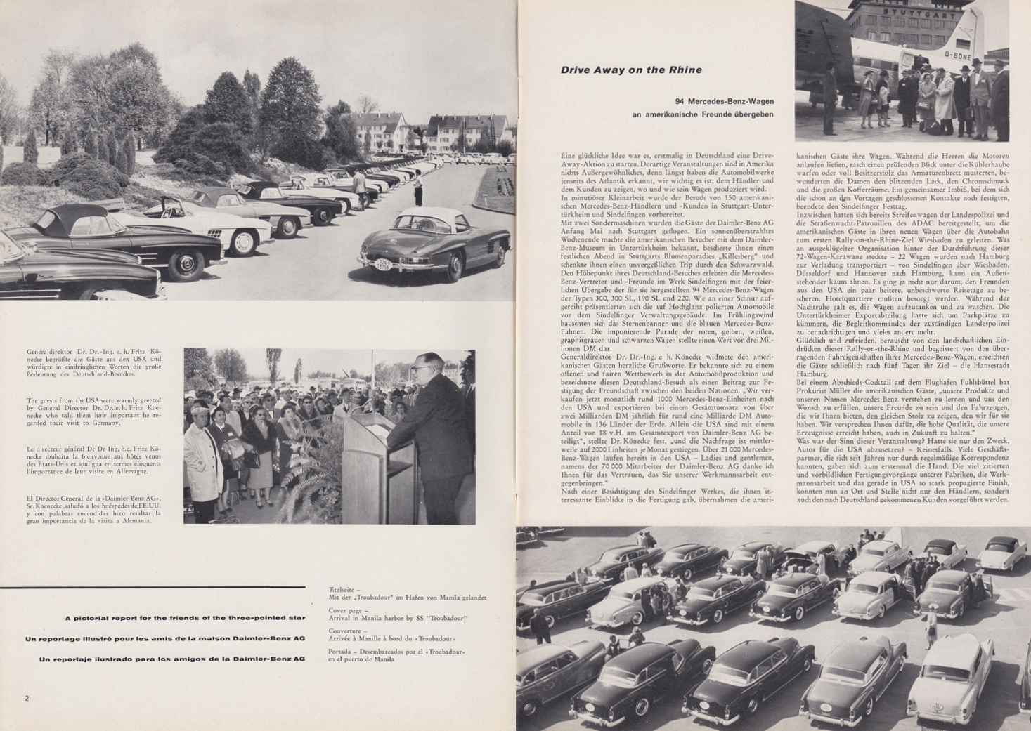 (REVISTA): Periódico In aller welt n.º 33 - Mercedes-Benz no mundo - 1959 - multilingue 002