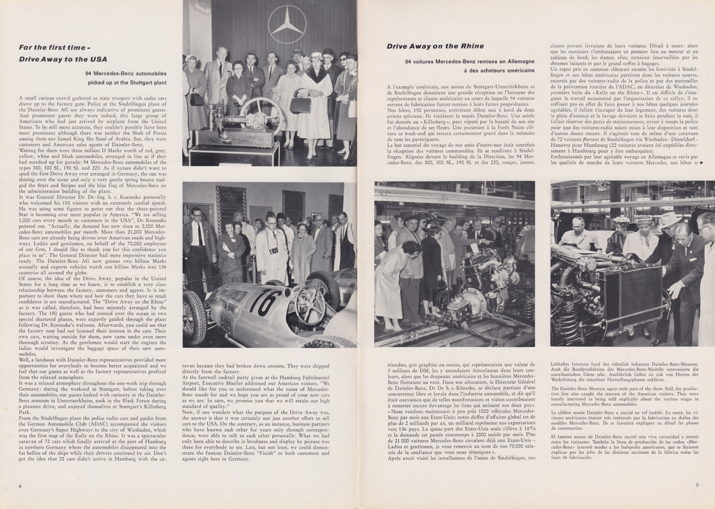(REVISTA): Periódico In aller welt n.º 33 - Mercedes-Benz no mundo - 1959 - multilingue 003