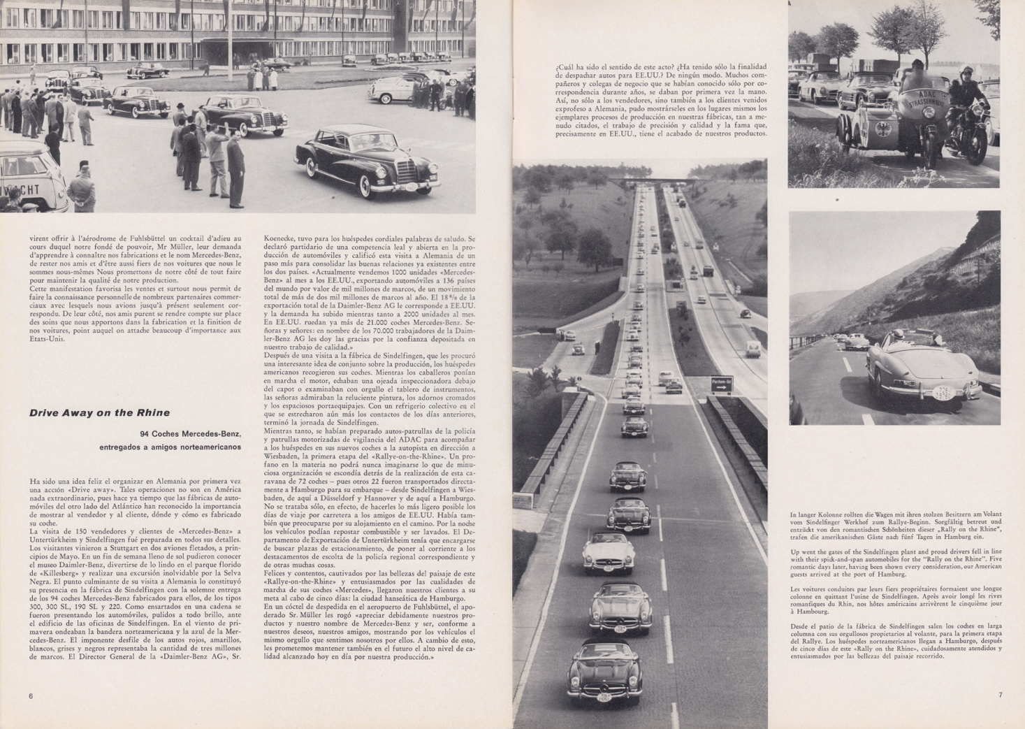 (REVISTA): Periódico In aller welt n.º 33 - Mercedes-Benz no mundo - 1959 - multilingue 004