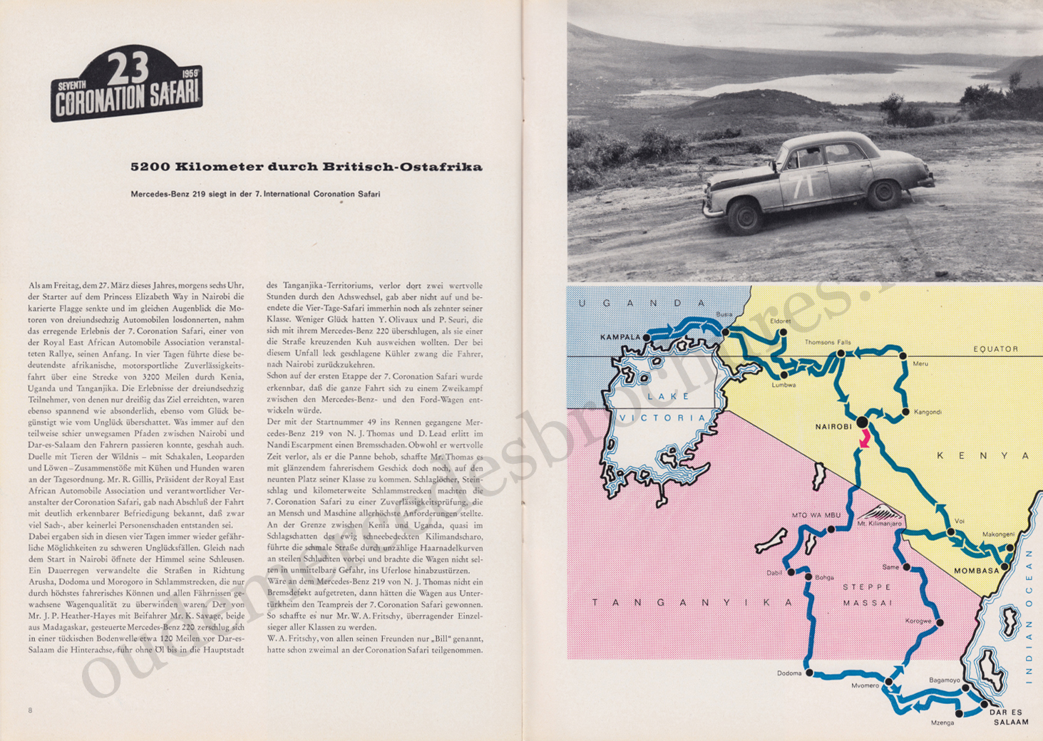 (REVISTA): Periódico In aller welt n.º 33 - Mercedes-Benz no mundo - 1959 - multilingue 005