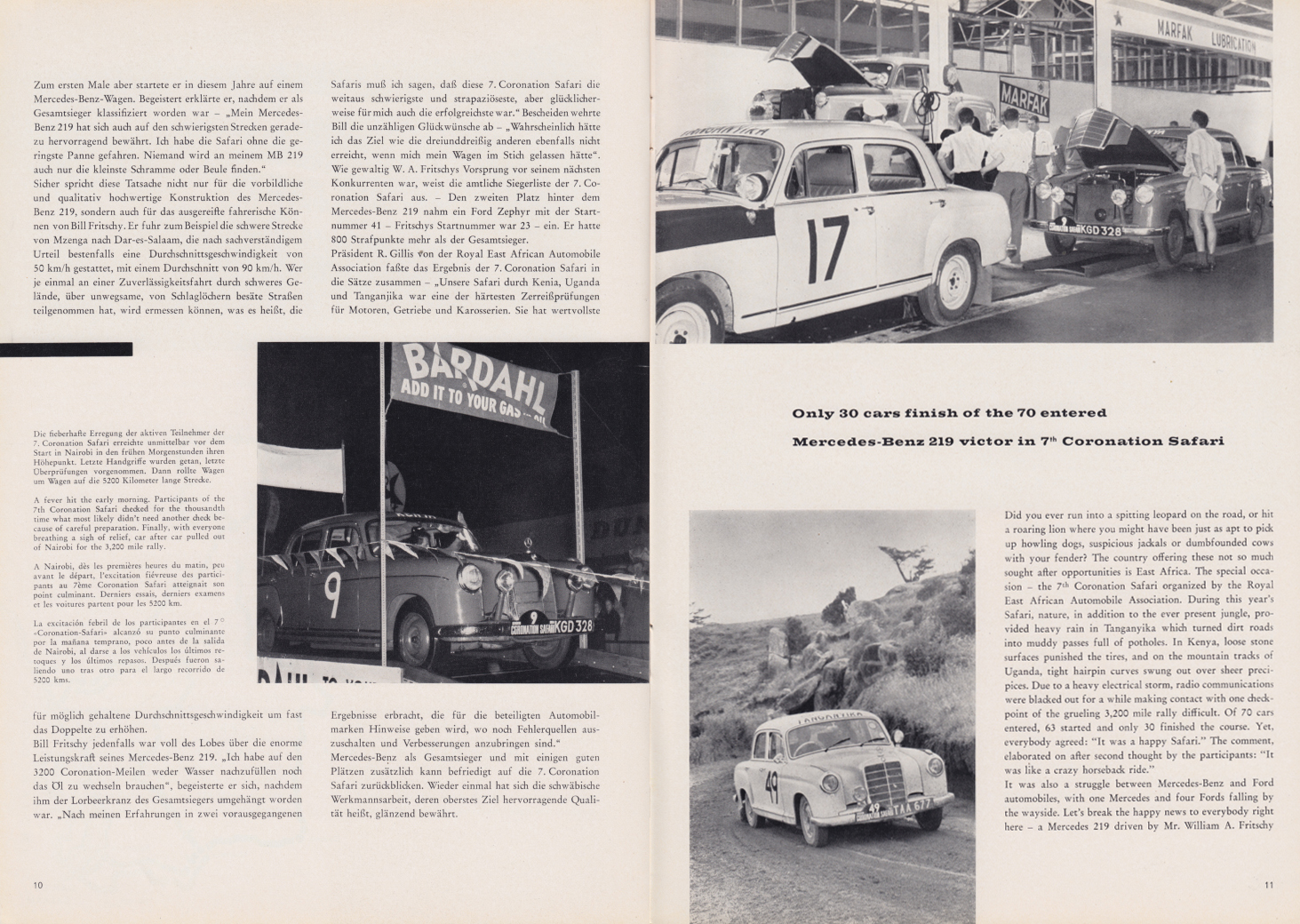 (REVISTA): Periódico In aller welt n.º 33 - Mercedes-Benz no mundo - 1959 - multilingue 006