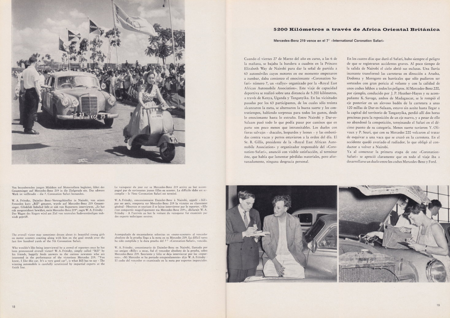 (REVISTA): Periódico In aller welt n.º 33 - Mercedes-Benz no mundo - 1959 - multilingue 010