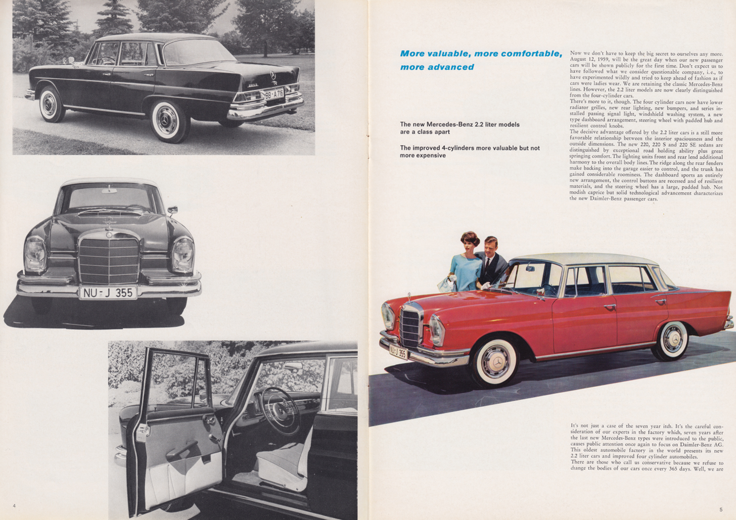 (REVISTA): Periódico In aller welt n.º 34 - Mercedes-Benz no mundo - 1959 - multilingue 003