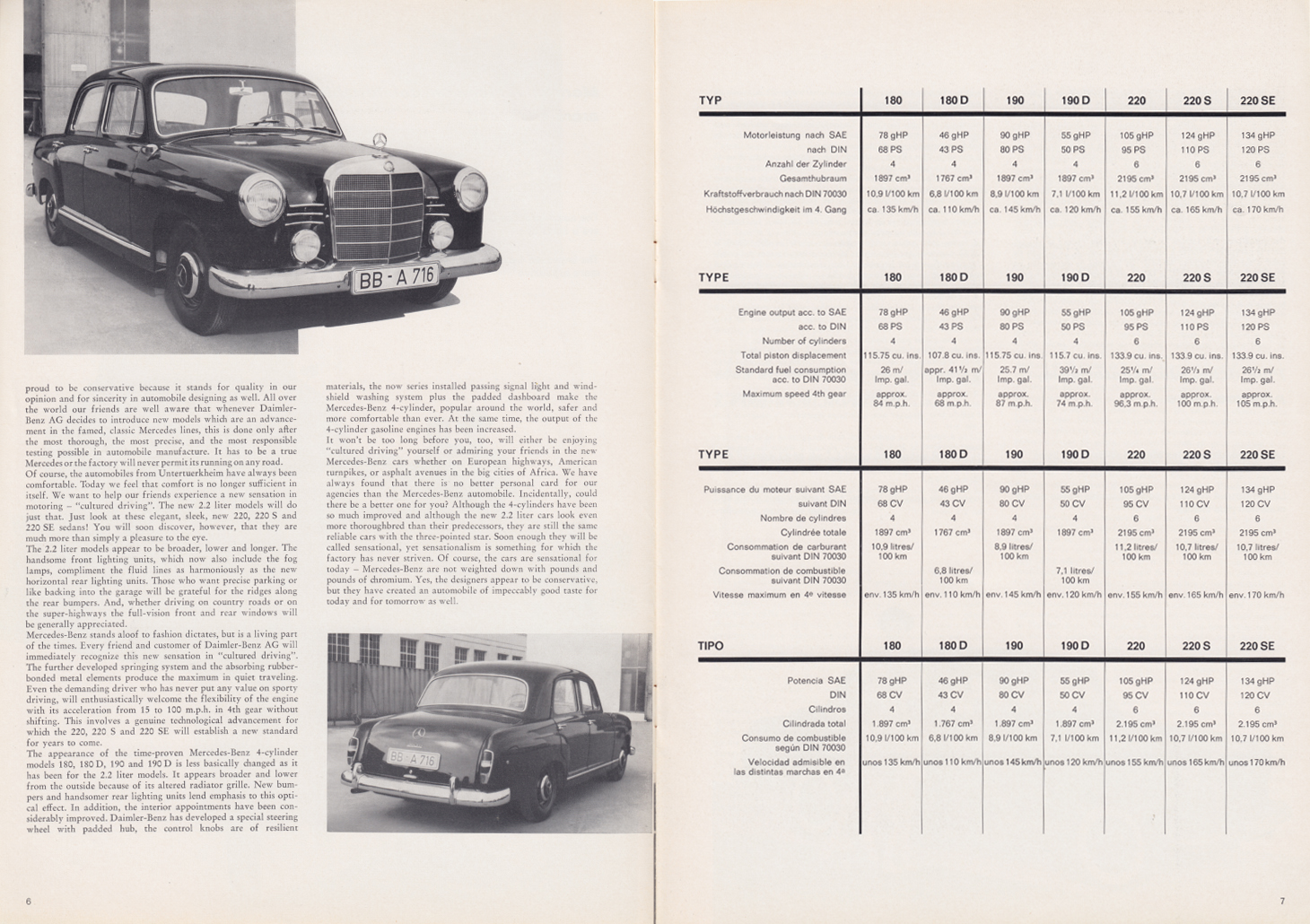 (REVISTA): Periódico In aller welt n.º 34 - Mercedes-Benz no mundo - 1959 - multilingue 004