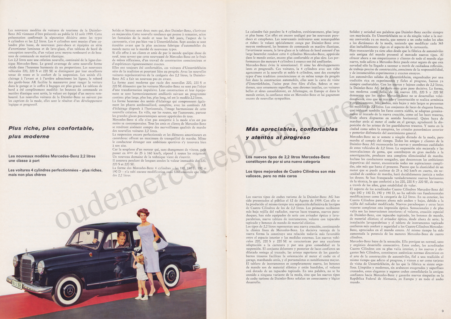 (REVISTA): Periódico In aller welt n.º 34 - Mercedes-Benz no mundo - 1959 - multilingue 005
